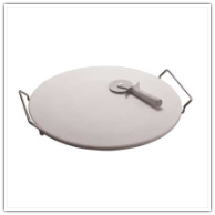 Pizza Stone with Rack and Pizza Cutter