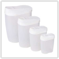Plastic 8-Piece Nesting Storage Containers Set