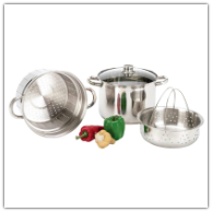 Wyndham House 4-Piece Stainless Steel Multicooker/Stock Pot