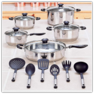 Wyndham House™ 16-Piece Stainless Steel Cookware Set