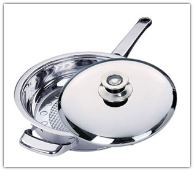 Mert 3 Qt Stainless Steel Fry Pan with Lid
