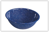 Stansport 7-Inch Speckled Blue Enamel Mixing Bowl