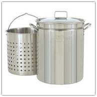 Bayou Classic 24-Quart Stainless Steel Stockpot Cookware Set