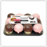 Range Kleen 12-Cup Muffin Pan with 12 Cupcases- Assorted