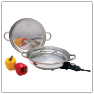 Precise Heat™ Round Stainless Steel Electric Skillet