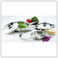 6-Piece Stainless Steel Skillet Cookware Set*