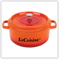 LaCuisine™ Orange Cast Aluminum Casserole Dishes-Assorted Sizes