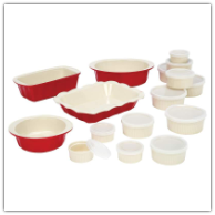 Wyndham House™ 28-Piece Red and White Stoneware Bakeware Set