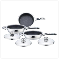 Precise Heat™ 6-Piece Surgical Stainless Non-Stick Skillet Set