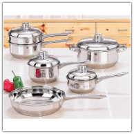 Yorkville™ 10 Piece Stainless Steel Cooking Pans