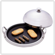 Maxam® Chef's Secret® 12-Element Surgical Stainless Nonstick Round Griddle with Dome Cover