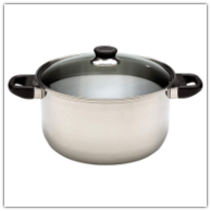 Chef's Secret® 8 Quart Stainless Steel Stock Pot with Lid