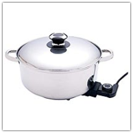 Precise Heat™ Stainless Deep Electric Skillet/ Slow Cooker