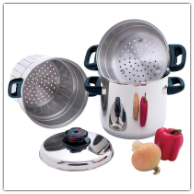 Chef's Secret® 4-Piece Stainless Steel Pasta/ Steamer Cookware Set