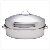 Precise Heat™ Stainless Steel Oval Roaster