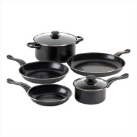 Graphite Black 7-Piece Nonstick Iron Cookware Set