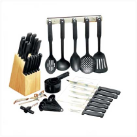 41-Piece Kitchen Cutlery and Cooking Utensils Set