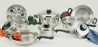 Worlds Finest 17-Piece 7-Ply Stainless Steel Waterless Cookware Set
