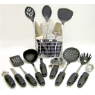 Kitchen Pride Stainless Steel 17-Piece Kitchen Tool Cookware Set