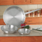 Chef's Secret® 3-Piece Aluminum Fry Pans Cookware Set