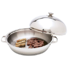Maxam® Chef's Secret 12-Element Surgical Stainless Steel Round Griddle with Lid