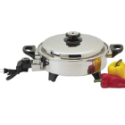 Precise Heat™ 3.5 Quart Surgical Stainless Steel Oil Core Electric Skillet