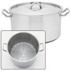 Precise Heat™ 3-Piece 42-Quart Waterless Stock Pot Cookware Set with Rack