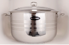 Aksel Heavy Duty 23 Qt 18/10 Stainless Steel Covered Stock Pot