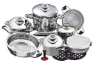 Carl Weill 16-Piece Stainless Steel Cookware Set