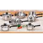 17-Piece Surgical Stainless Steel Cookware Set