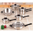 Maxam®  9-Element Steam Control™ Stainless Steel Waterless Cookware
