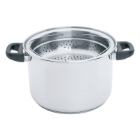 Steam Control 8 Qt Surgical Stainless Steel Stockpot & Pasta Cooker