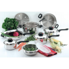 Chef's Secret® 15-Piece Stainless Waterless Cookware Set