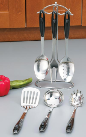 Chefmaster 7-Piece Stainless Steel Kitchen Utensils Set