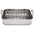 Chef's Secret® Stainless Steel Roaster Pan with Rack Cookware Set