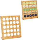 HealthSmart™ 25-Hole Upright Bamboo Coffee Pod Rack
