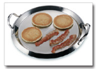 Maxam® Chef's Secret 2-Piece Stainless Steel Round Griddle with Glass Lid