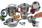 Chef's Secret® 22-Piece T304 Stainless Steel Super Cookware Set