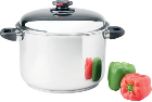 Steam Control™ 12 Quart 9-Element T304 Surgical Stainless Steel Stock Pot