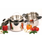 Stainless Steel 4-Piece 8-Quart Pasta/ Steamer Cookware Set