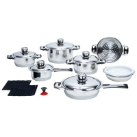 Chef's Secret® 16-Piece 7-Ply Surgical Stainless Steel Cookware Set